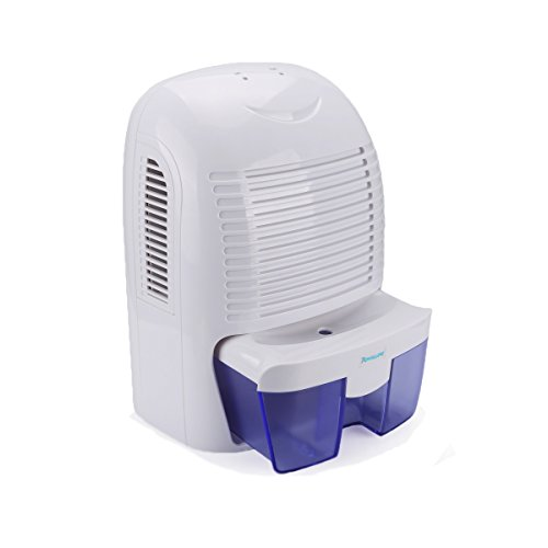 Powilling 1500ml Portable Quiet Dehumidifier For Home Basement Bedroom Bathroom Garage