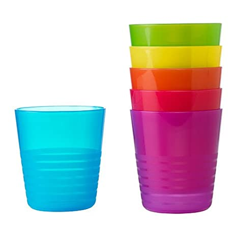 02bbbcb5e2a Ikea Kalas 101.929.56 BPA-Free Tumbler, Assorted Colors, 6 Count, Pack of 2