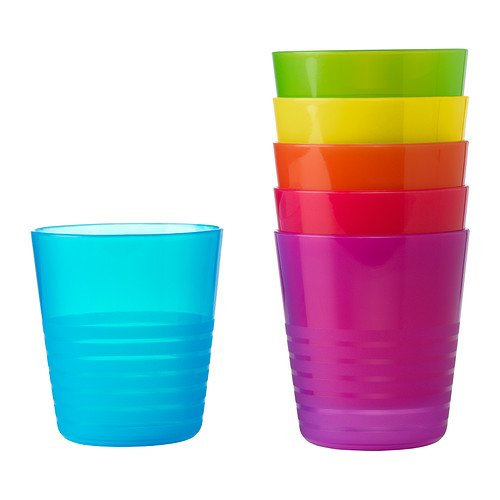 Ikea Kalas 101.929.56 BPA-Free Tumbler, Assorted Colors, 6-Pack, Set of 2