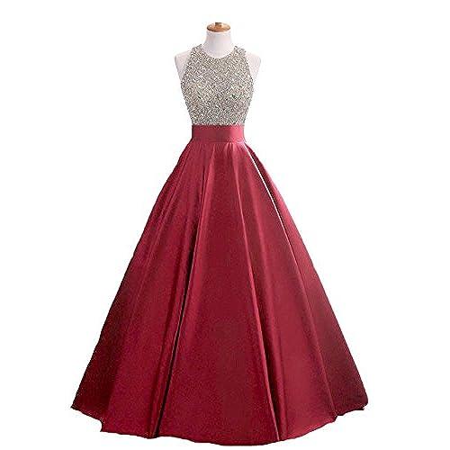 Red Sequin Prom Dress: Amazon.com