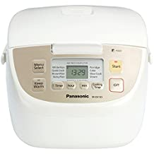 Panasonic SRDE103 5-Cup Uncooked/10-Cup Cooked Rice Cooker,  White Chrome Finish