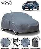 Fabtec Car Body Cover for Maruti Baleno 2018 with Mirror Pocket Antenna & Storage Bag (Heavy Duty)