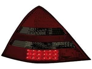 Dectane RMB18DLRS - Faros traseros LED para Mercedes Benz SLK R170 (modelos de 2000 a 2004), color rojo y gris oscuro