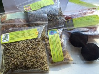 - Herbs for Incense: Lavender ~ Rosemary ~ Cinnamon chips ~ Red Sandalwood ~ Frankincense ~ 1/2 oz ea ~ 2 single Charcoal Rounds ~ Ravenz Roost Herbs with Special Info on Most Labels with Recipe