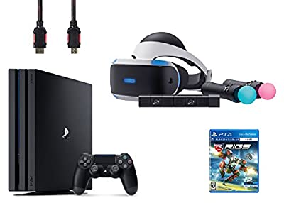PlayStation VR Start Bundle 5 Items:VR Headset,Move Controller,PlayStation Camera Motion Sensor,PlayStation 4 Pro 1TB,VR Game Disc RIGS Mechanized Combat League from Sony VR