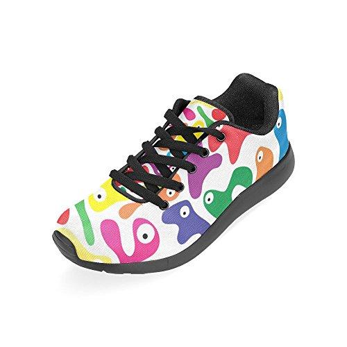 Negro Negro Para Zenzzle de Running Zapatillas de Mujer Lona RxnvqOAw1