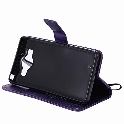 Yiizy Microsoft Lumia 950 Funda, árbol De Dibujo Diseño Solapa Flip Billetera Carcasa Tapa Estuches Premium PU Cuero Cover Cáscara Bumper Protector Slim Piel Shell Case Stand Ranura para Tarjetas Esti