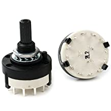 1pcs,3 Pole 1-4 Position Custom Wiring ROTARY SWITCH 3P4T (3P4T)