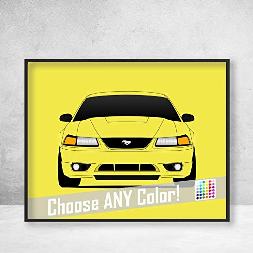 Ford Mustang SVT Cobra 1999-2002 Poster Print Wall Art Decor Handmade