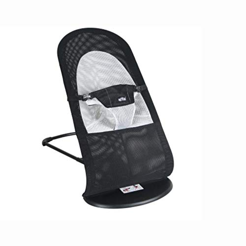 XNYY Kid's Chair Cradle Bed Balance Swings Chair Bouncers Baby Cradle Chair Baby Rocking Chair Entertainment (Color : Black (Summer mesh)) by XNYY (Image #6)