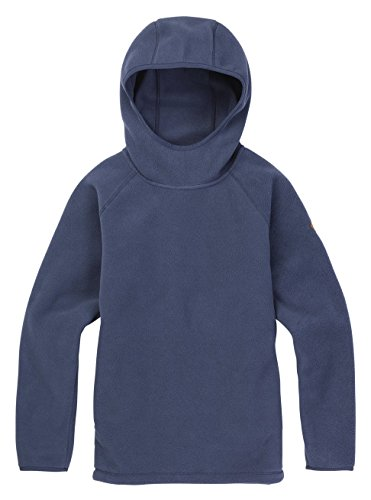 Burton Women's Hearth Fleece Hooded Pullover Hoodie, Mood Indigo, Large -
