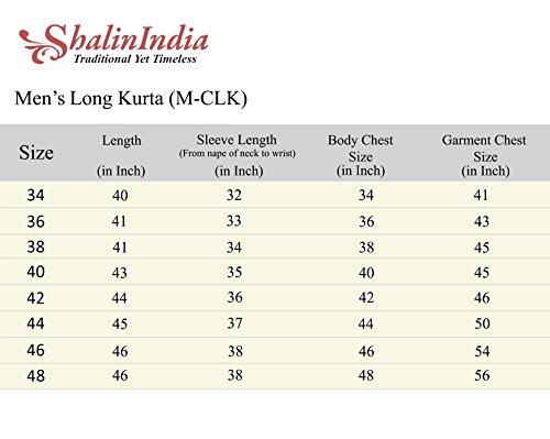 ShalinIndia Cotton Long Nehru Collar Indian Mens Kurta Shirt 3 pockets Magenta 46 by ShalinIndia (Image #6)