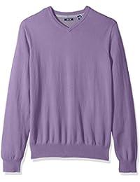 Men's Fine Gauge Solid V-Neck Sweater