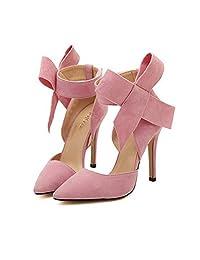 Xianshu Womens Bow Tie High Heel Pumps Party Dress Court Shoes