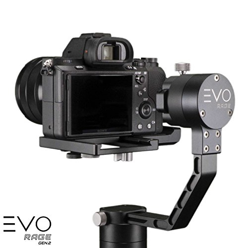 EVO Rage Gen2 3 Axis Gimbal for DSLR & Mirrorless Cameras - Stabilizer Works with Sony A7S II, Panasonic GH4 GH5, and most cameras up to 5.5lbs | 1 Year US Warranty & Tech Support
