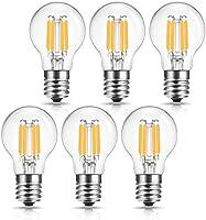 ドリスショップ LED電球 E17口金 40W形相当 電球色 G40 フィラメント電球 全方向 シャンデリア用 エジソン電球 ミニボール電球 調光器対応 密閉形器具対応 6個入