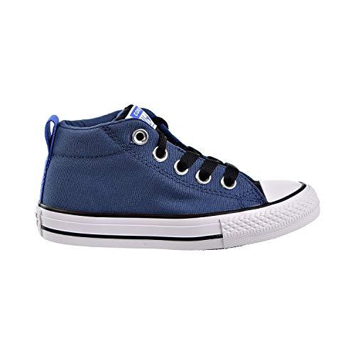 Converse Boys' Chuck Taylor All Star Street Sneaker, Mason Blue/Black/White, 5 M US Big Kid