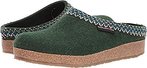 Haflinger Zig ZAG Spruce Slippers; Size: EU 40 (US Womens 9; Mens 7)