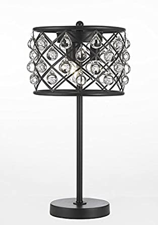 Spencer Table Lamp Crystal Spheres Iron 3 Light Table Lamp Accent