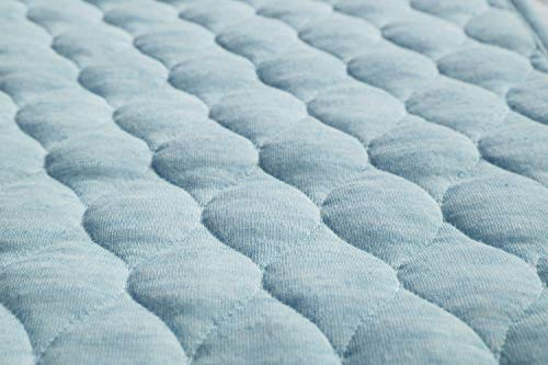 BlueSnail Bamboo Quilted Thicker Waterproof Changing Pad Liners, 3 Count (Blue)