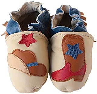 product image for BUCKAROO Handmade in USA, All-Natural Leather Baby Shoes.
