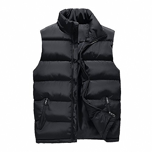 MALE Quilted Sleeveless Outerwear MAGE Puffer Jacket Vest Men's Black Down Warm g8wA1d