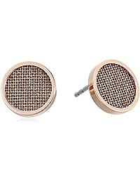 Skagen Women's Merete Rose-Tone Stud Earrings, Rose Gold, Size: 0
