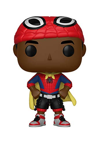 Funko Pop Marvel: Animated Spider-Man Movie - Miles Morales with Cape Collectible Figure, Multicolor -