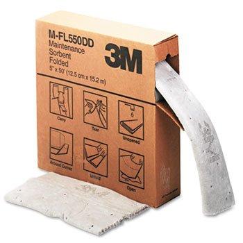 3M Sorbent, High-Capacity, Folded Maintenance, 10.5gal Capacity, 1 Roll/Box