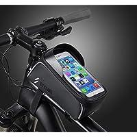 Teléfono cuadro de la bicicleta bolsa delantera de la bici bolsa impermeable marco de la bolsa Monte la caja del teléfono del bolso del teléfono sostenedor del marco Ciclismo Top tubo de la bolsa, el teléfono celular táctil ScreenLarge Capacidad Ciclismo paquete Compatible con iPhone Xs Max