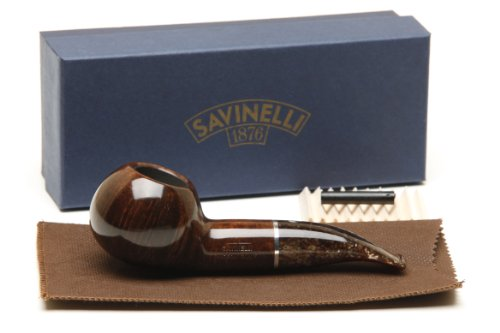 Savinelli Marron Glace 320 KS Smooth Brown Tobacco Pipe by Savinelli