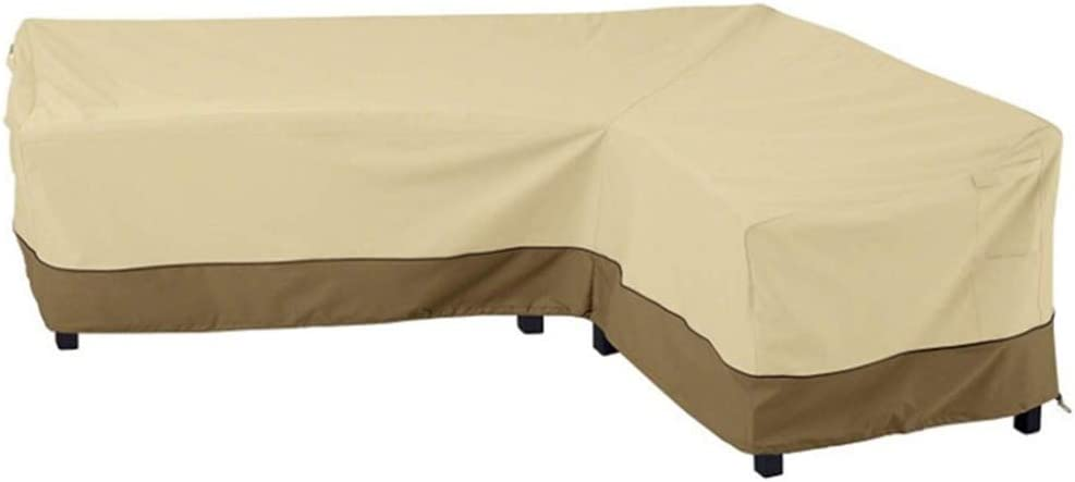 Outdoor Sectional L Shaped Sofa Cover, 104 In Heavy Duty Patio Furniture Covers Waterproof,Premium Durable Fabric Garden Couch Protector Designed with Windproof Straps Air Vent(L-Shape Right Facing)