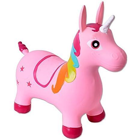 TE-Trend Kinder Baby Hopser H/üpftier Einhorn Pferd H/üpffpferd bis 50kg belastbar rosa SGS gepr/üft Pumpe