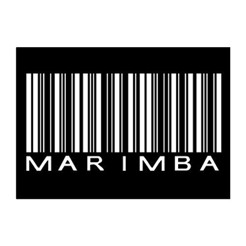 Teeburon Marimba BARCODE Pack of 4 Stickers