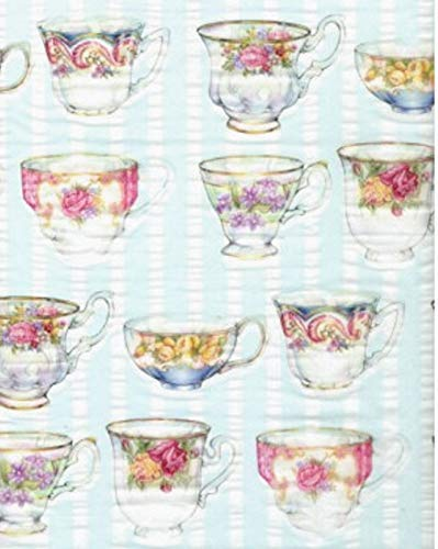 (English Tea Cups Tissue Wrapping Paper-20 Sheets )