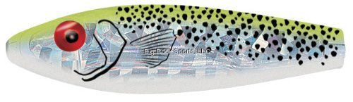 MirrOLure Series III Spotted Trout, Chartreuse Back/Pearl Belly, 3-5/8-Inch