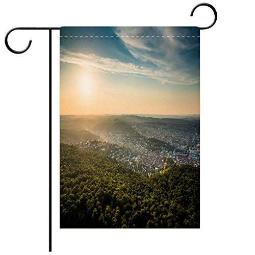 Stuttgart Beer - BEICICI Garden Flag Double-Sided Printing, Beautiful Sunset at Stuttgart City Germany Best for Party Yard and Home Outdoor Decor