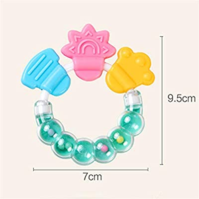 JINGYANHUA Silicone Toothbrush and Environmentally Safe Baby Teether Teething Ring Kids Teether Children Chewing,Green: Home & Kitchen