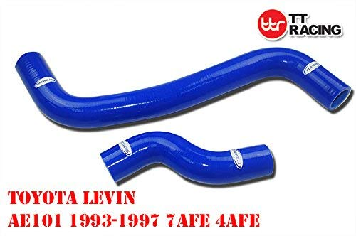 SILICONE RADIATOR HOSE PIPE KIT FOR TOYOTA COROLLA LEVIN AE101 4A-GE 7AFE 93-97: