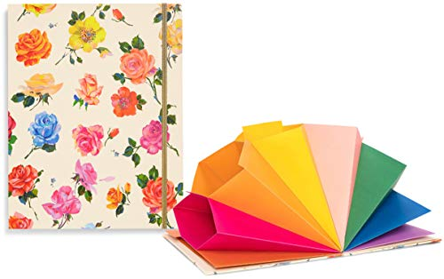 ban.do Get It Together Colorful Expanding File Folder with 9 Tabbed Sections, Coming Up Roses