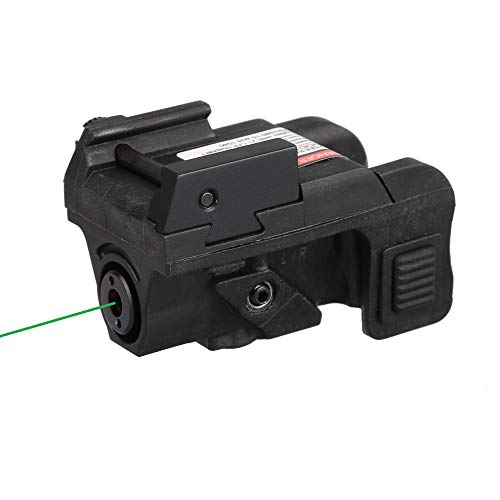HiLight Pistol Green Laser Sight (USB Rechargeable) for Subcompact and Compact Pistols, Model P3G