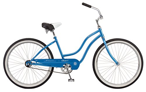 "Schwinn Women's Classic 1 26"" Wheel Cruiser Bicycle, Blue, 14""/Small"