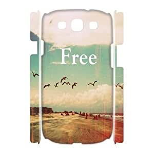 DIY Free Yourself 3D Plastic Case for SamSung Galaxy S3 i9300, Custom Free Yourself 3D S3 Shell Case, Personalized Free Yourself 3D i9300 Cover Case