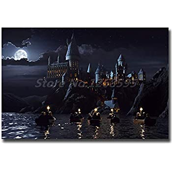 NATVVA Hogwarts Castle HD Wall Art Canvas Poster and Print Canvas Painting Decorative Picture for Living Room Home Decor No Frame