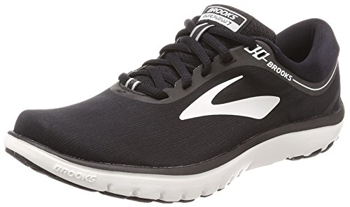 Brooks Womens PureFlow 7 - Black/White - B - 9.0