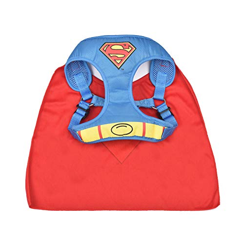 DC Comics Superman Harness for Dogs | Superhero Dog Harness | Harness for Medium Size Dog Breeds