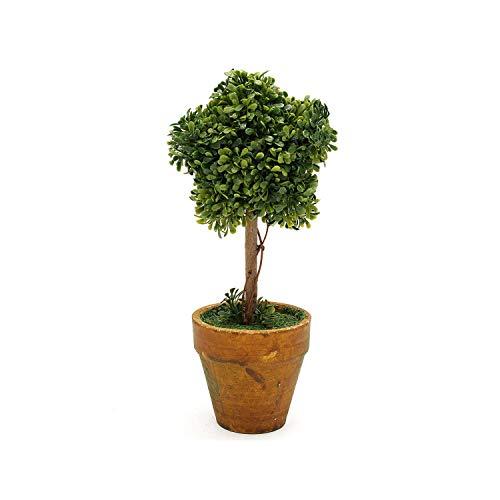 (Artificial Garden Grass Wedding Arrangement Buxus Balls Boxwood Topiary Landscape Fake Trees Pots Plants,21cm Star)