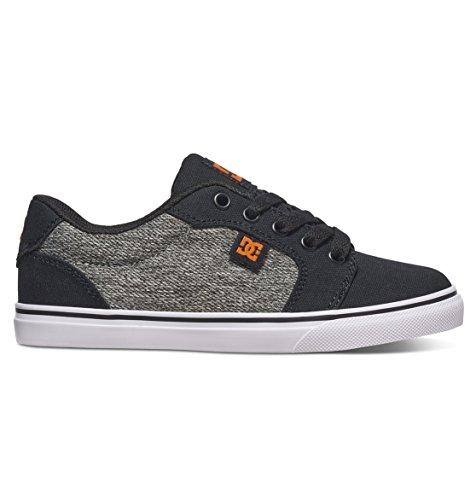 DC Kids' Anvil TX SE Sneaker, Black/Grey, 12 M US Little Kid
