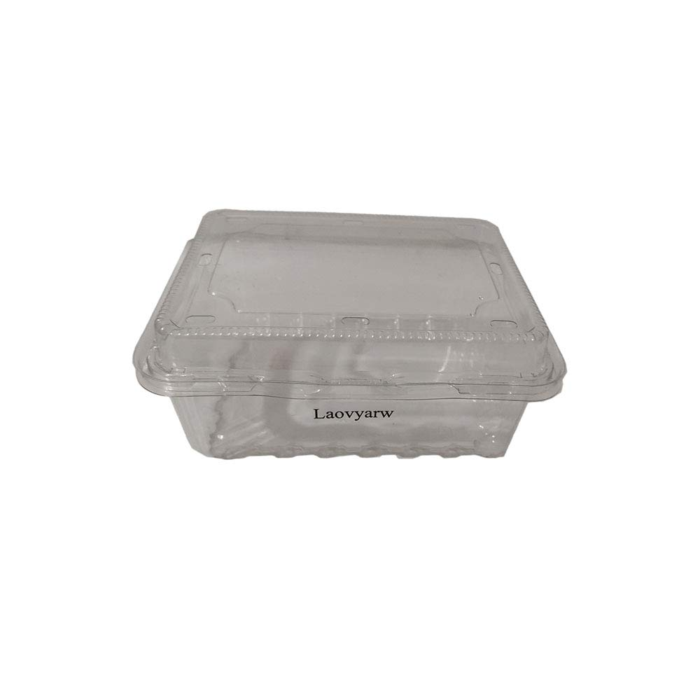 Laovyarw Packaging Containers of Plastic, Clear Plastic Hinged Food Container with Lids, Keep Your Food Secure (30 Pieces)