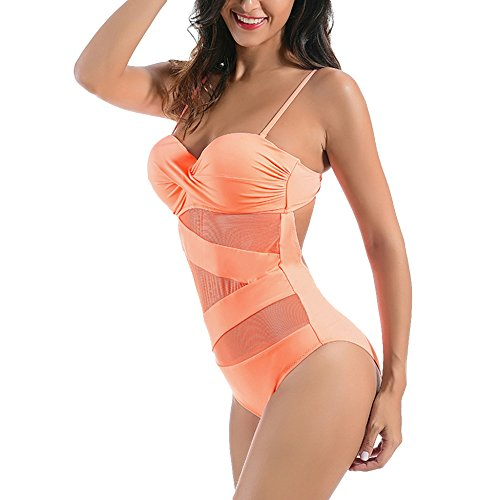 Bagno Da Womens Bagno Garza Beach Pezzo Sottile Costume Bathing L'estate Imbottito Costumi Beachwear Da Un Per Swimdress Pure Spa Color Petto Bikini Spiaggia Rosa fwrqXPf
